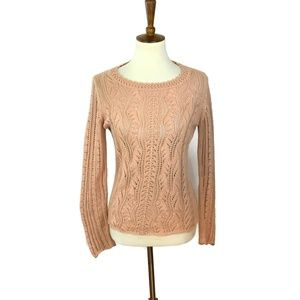 Sparrow Anthropologie Sweater Size Small  Peach